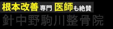 針中野で根本改善なら「針中野駒川整骨院」 ロゴ